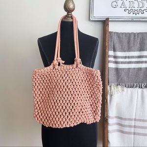 Clare V Sandy Braided Natural Rope Leather Bag